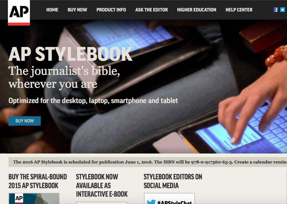 starting a digital magazine Ap stylebook