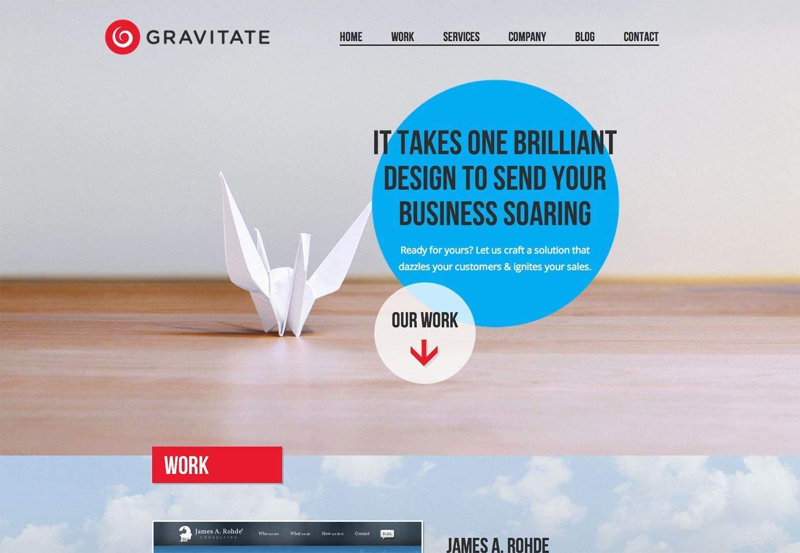 profitable landing page gravitate