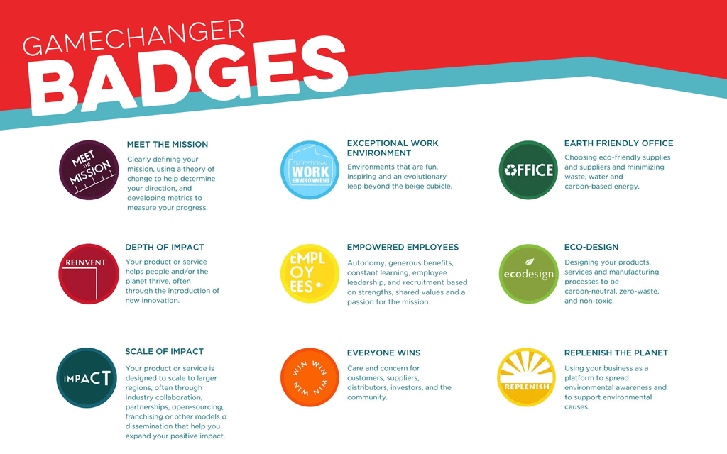 rise of the philanthropreneur gamechanger badges