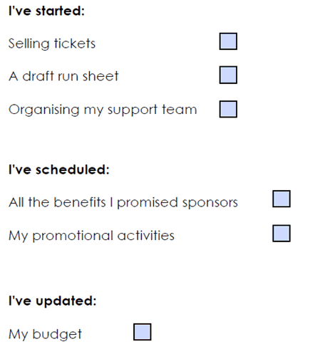 In-person events success checklist