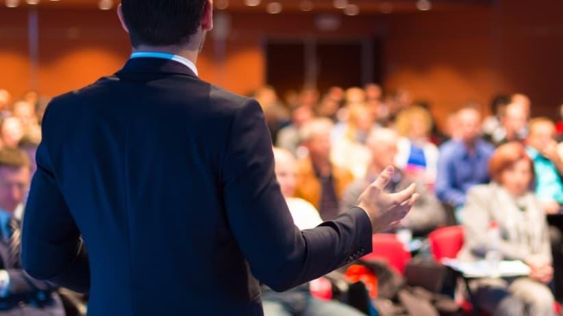 Startup Ideas - man delivering a speech