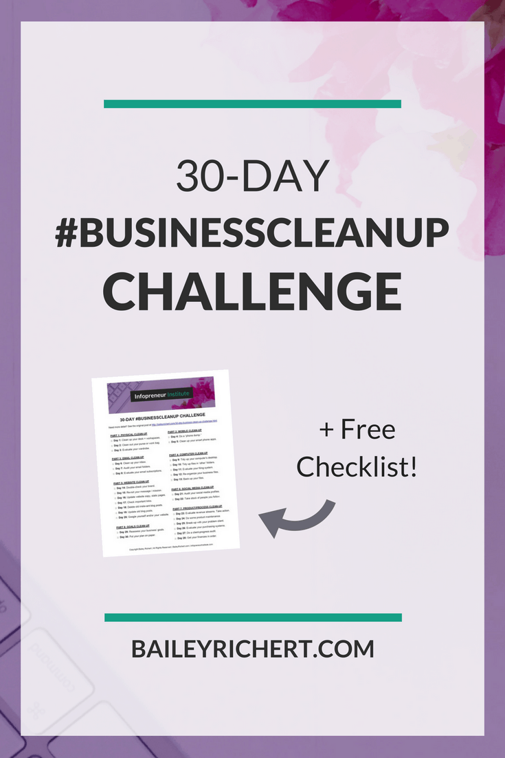 Repurpose your content- Bailey Richert's 30-Day #BusinessCleanUp Challenge
