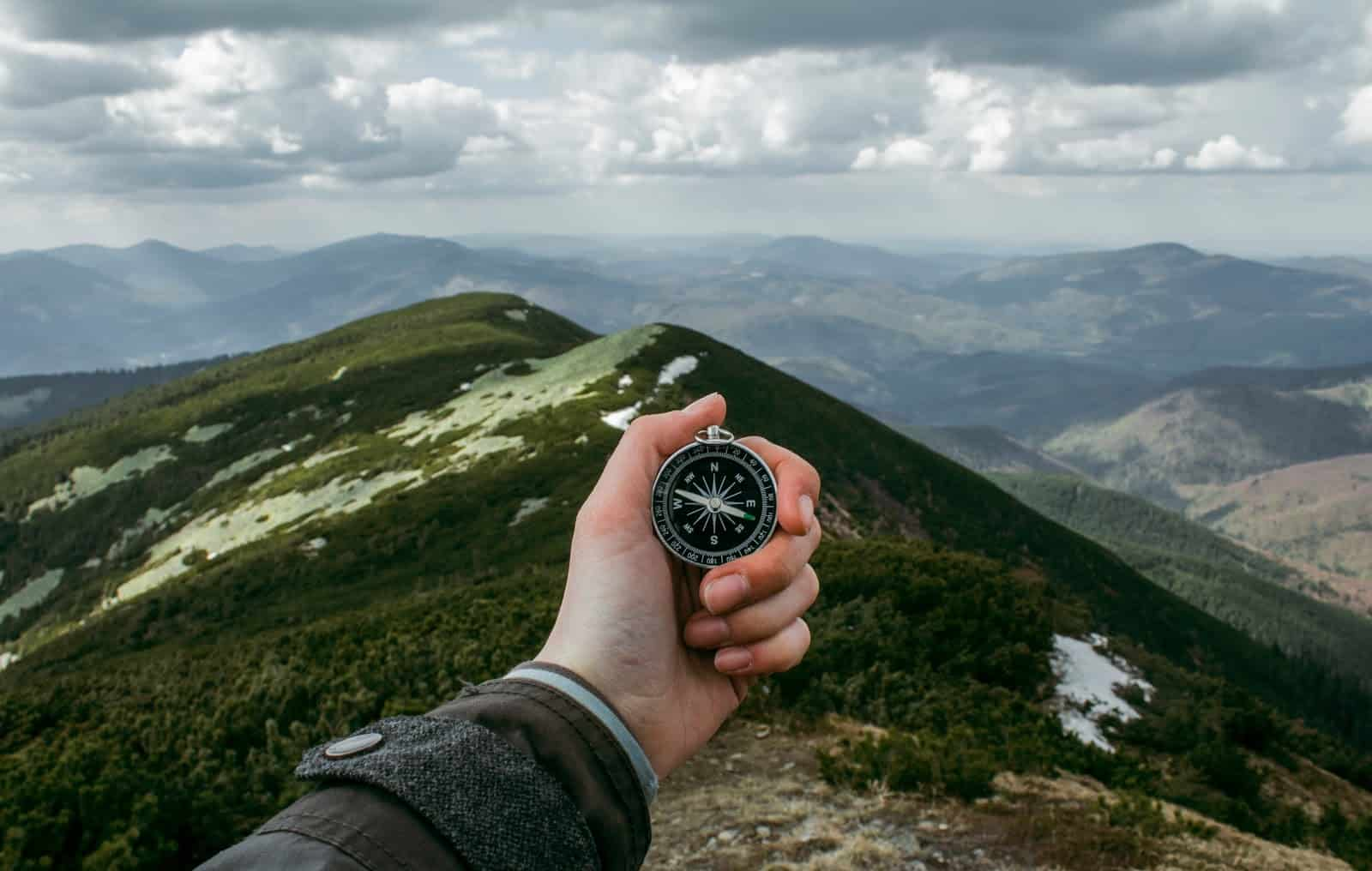 goal-setting - compass and nature