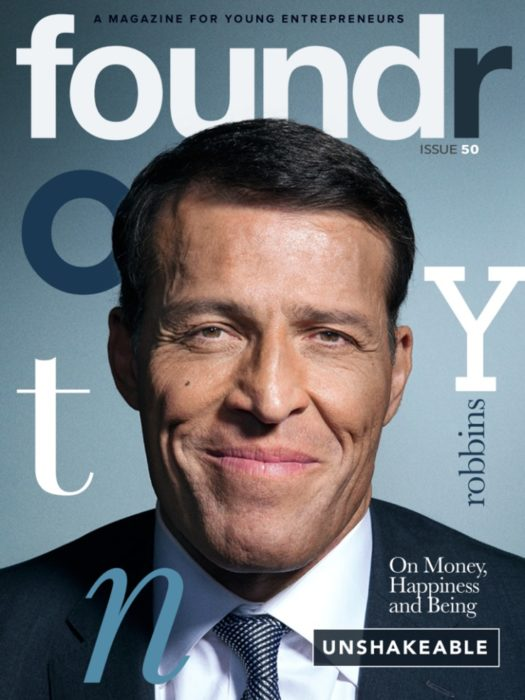Tony Robbins Foundr Magazine