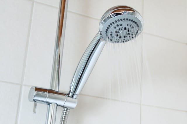 Beating anxiety - shower head