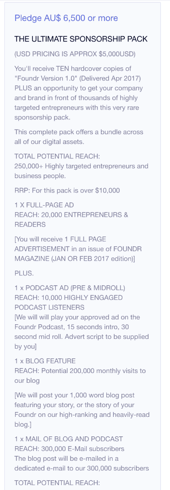 To get sponsored, look at what you can offer