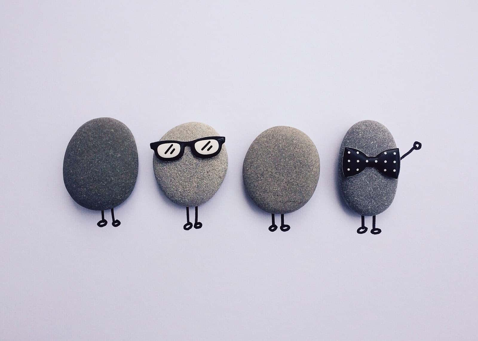 rocks in a line defining that creating an SaaS product requires a mix of different skills