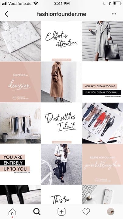 5 Steps To Designing An Aesthetically Beautiful Instagram Feed Foundr