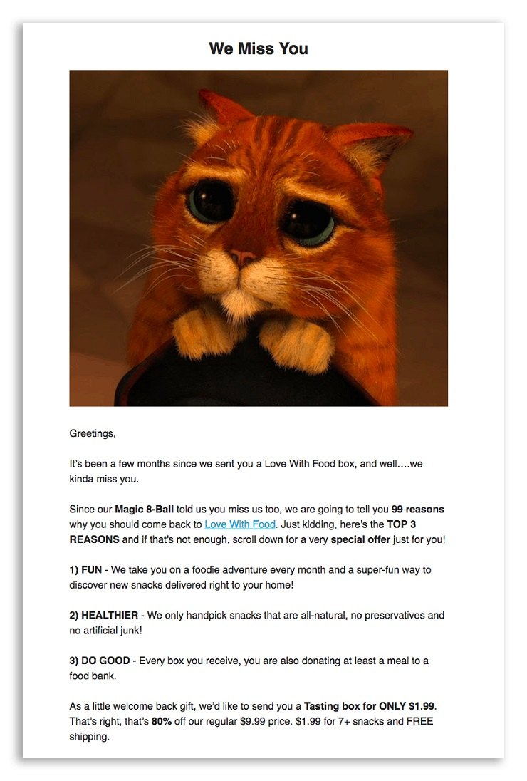Warby Parker's Ecommerce email marketing
