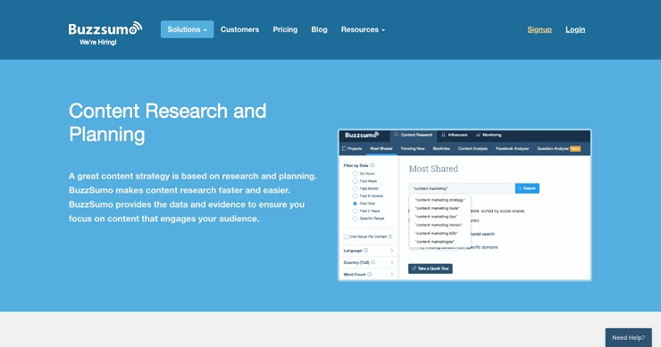 Buzzsumo is a tool you can use for List building