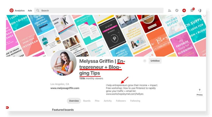 how to build an email list without a website using Pinterest by Melyssa Griffin