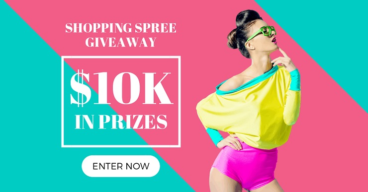 Build your audience contest image shopping spree giveaway