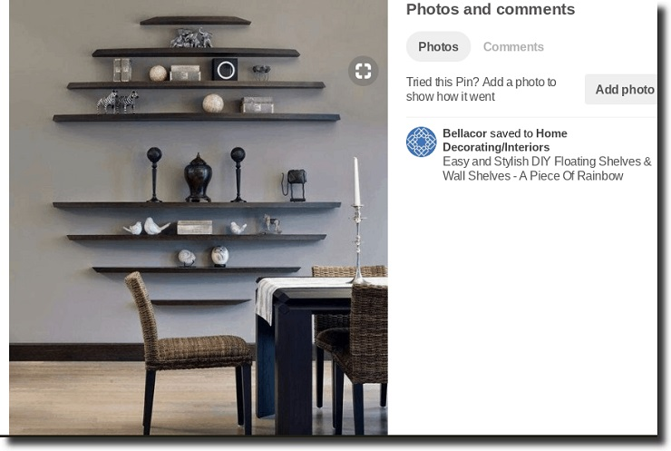 pinterest and ecommerce example Tall, well-lit images