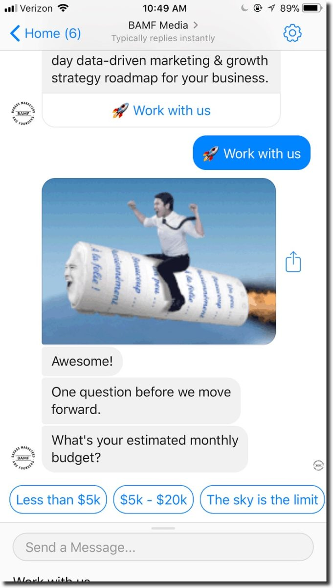 use chatbots to prequalify leads