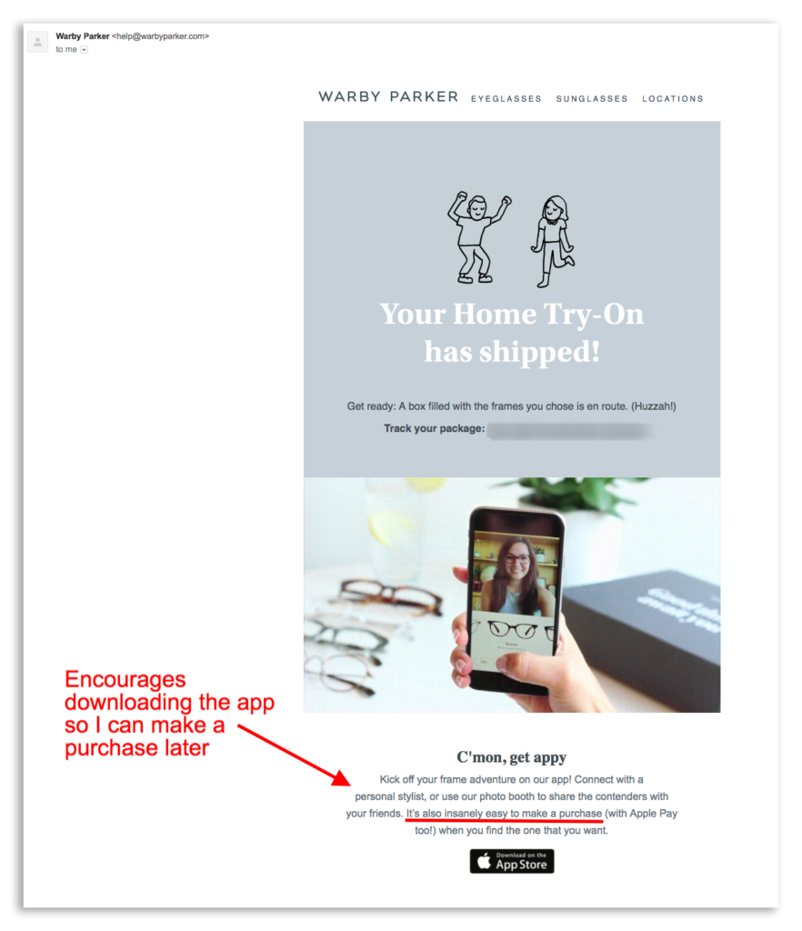Warby Parker's email marketing automations