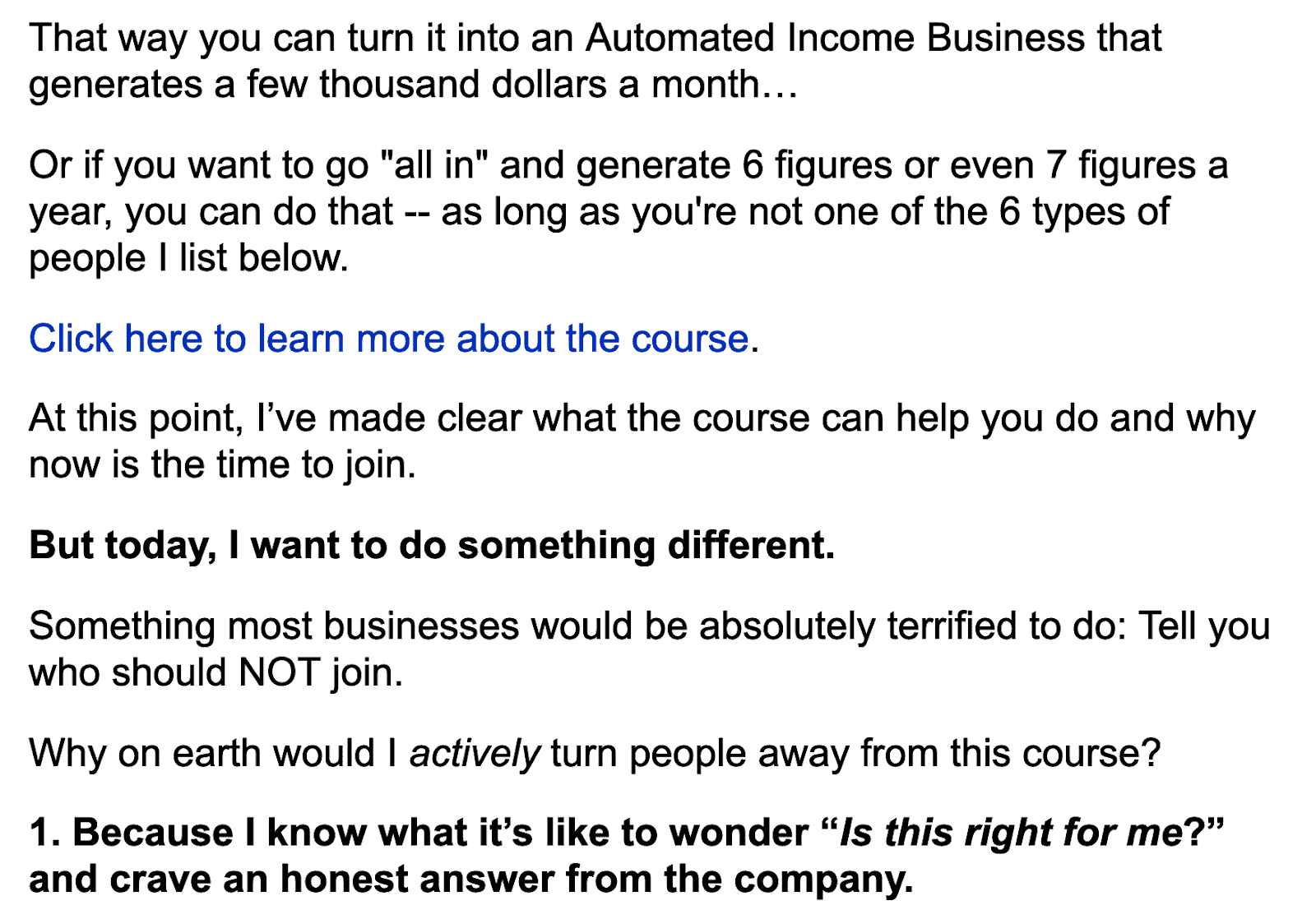 email funnels for Jumpcuton who should notjoin their course resulted to $210,000 worth of programs in 48 hours