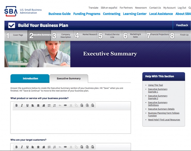 U.S SBAhas example business plansthat you can look at for inspiration