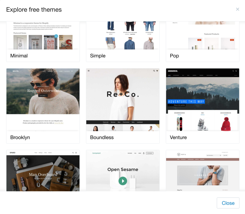 best ecommerce platforms 2018 shopify templates