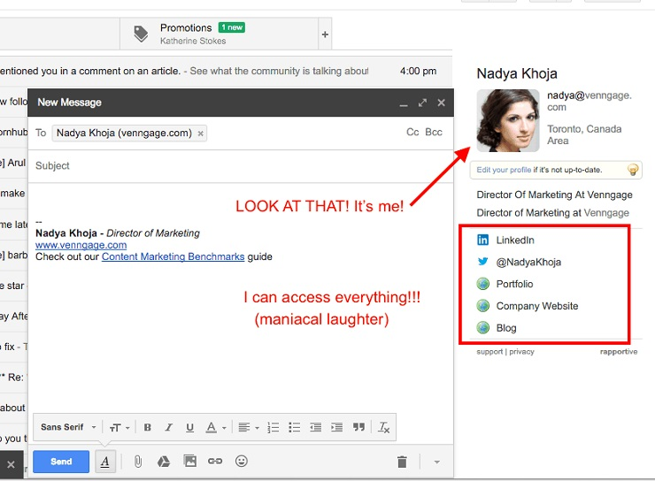 Chrome extension Sales Navigator for Gmail