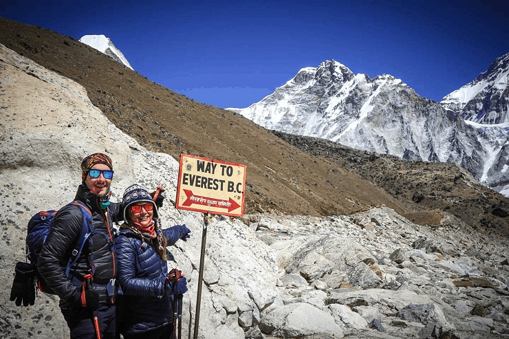 Tom Rogers and Anna Faustino of Travel in you in Mount Everest
