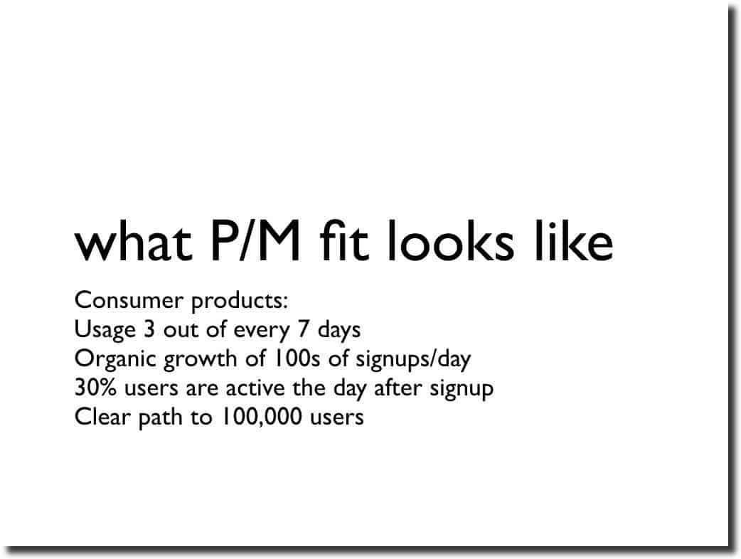 what product/market fit looks like