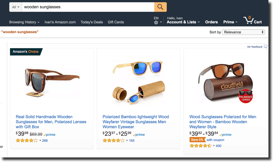 wooden sunglasses grow ecommerce sales
