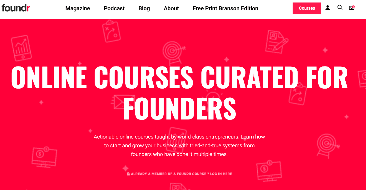 Foundr Online courses curated for founders