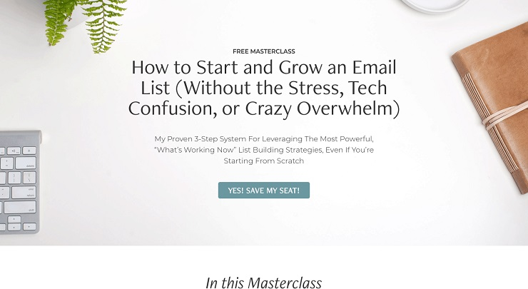How to Start and Grow an Email List Without the Stress Tech Confusion or Crazy Overwhelm Amy Portafield