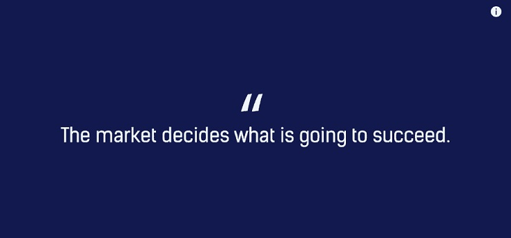 The market decides what is going to succeed