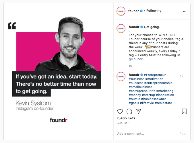 Instagram Foundr Brand Awareness
