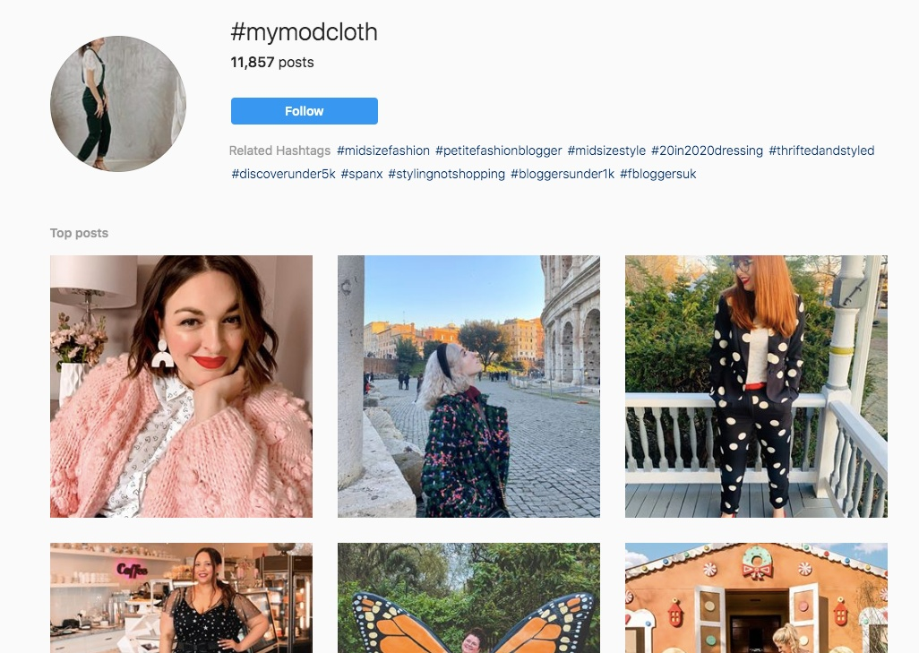 mymodcloth hashtag instagram